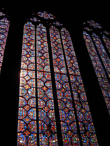 One of the 15 stained glass panels at Sainte-Chappelle.