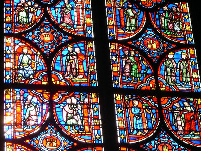 Another of the stained glass panels at Sainte-Chappelle.
