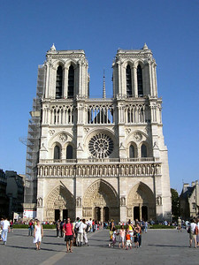 The Cathedral of Notre Dame (AD 1163) in Paris. Notre Dame is the second largest church in the world, second only to St. Peters in Rome.