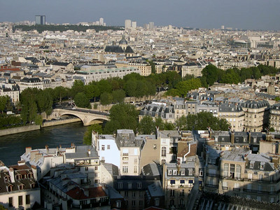 The city of Paris, from the top of Notre Dame.