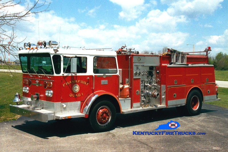 <center> RETIRED <br> Frankfort  Quad 1 <br> 1975 American LaFrance Pioneer II 1500/400 <br> Greg Stapleton photo </center>