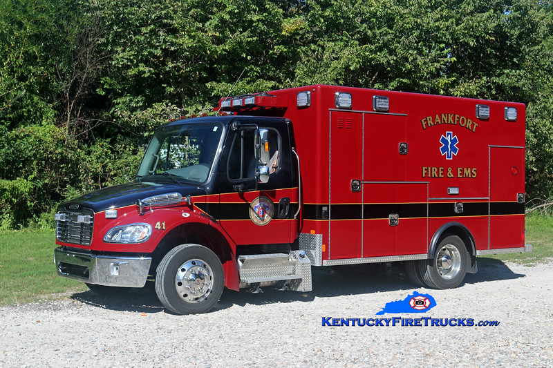 Frankfort  Medic 41<br /> 2017 Freightliner M2-106/Excellance<br /> Kent Parrish photo