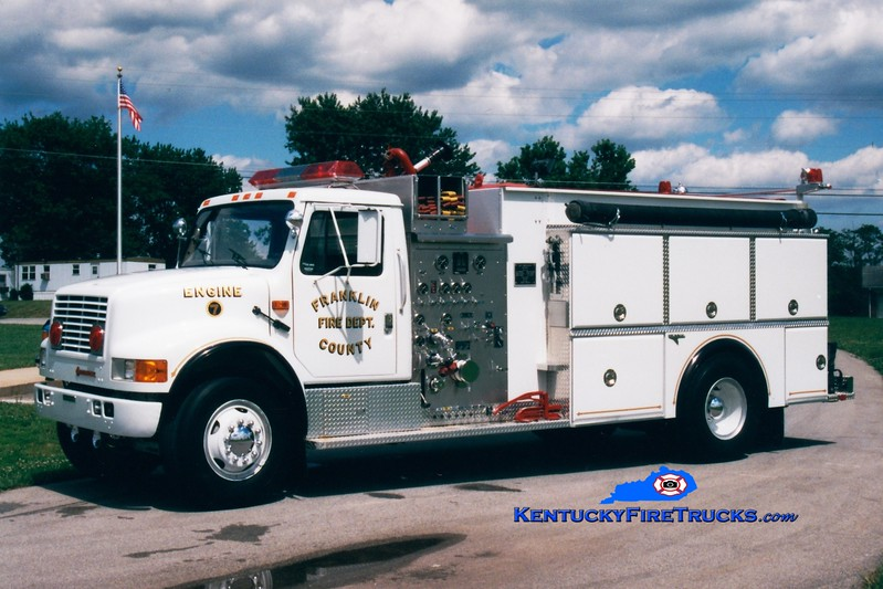 <center> Franklin County  Reserve Engine <br> x-Engine 7 <br> 1991 International 4900/Grumman 1250/1500 <br> Greg Stapleton photo </center>