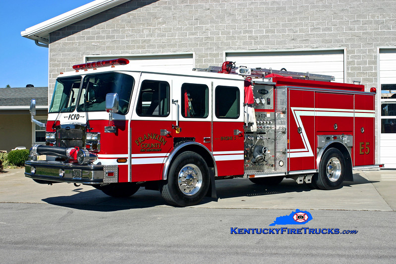 <center> Franklin County  Engine 5 <br> 2007 E-One Typhoon 1500/1000/50 <br> Kent Parrish photo </center>