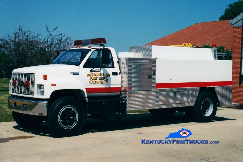 <center> RETIRED <BR> Franklin County  Tanker 3 <br> 1992 Chevy Kodiak/Local 0/2100 <br> Greg Stapleton photo </center>