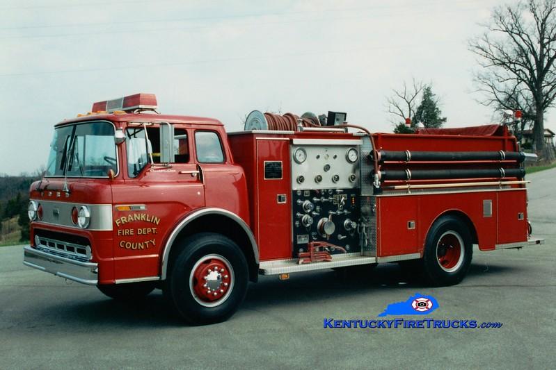<center> RETIRED <br> Franklin County  Engine 6 <br> 1981 Ford C/Jaco 1000/750 <br> Greg Stapleton photo </center>