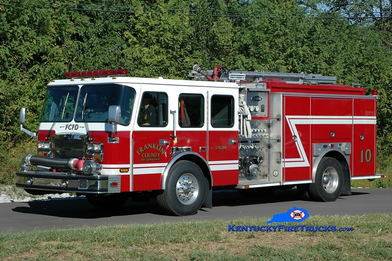 Franklin County  Engine 10<br /> x-Engine 3 <br /> 2007 E-One Typhoon 1500/1000/50<br /> Greg Stapleton photo