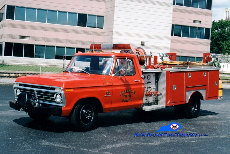 <center> RETIRED <br> Franklin County  Rescue 1 <br> 1975 Ford F-350/E-One 260/260 <br> Greg Stapleton photo </center>
