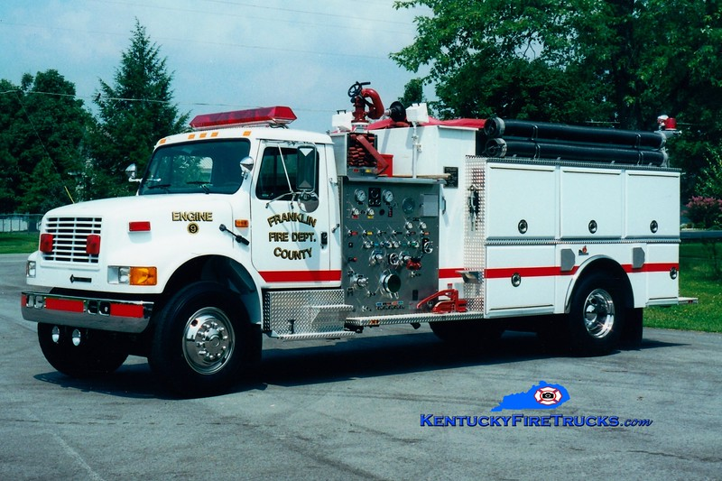 <center> Franklin County  Reserve Engine <br> x-Engine 9 <br> 1993 International 4900/Ferrara 1250/1500 <br> Greg Stapleton photo </center>