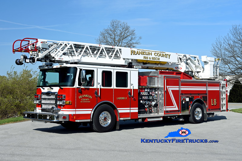 Franklin County Ladder 8<br /> 2020 Pierce Enforcer 2000/470/30/107' <br /> Kent Parrish photo