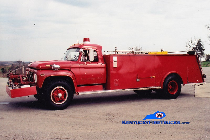RETIRED<br /> Franklin County  Tanker 1<br /> x-Engine 6 <br /> 1968 Ford/Boardman 500/1250<br /> Greg Stapleton photo
