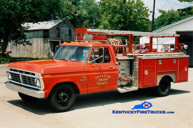 <center> RETIRED <br> Franklin County  Rescue 5 <br> 1975 Ford F-350/E-One 260/260 <br> Greg Stapleton photo </center>