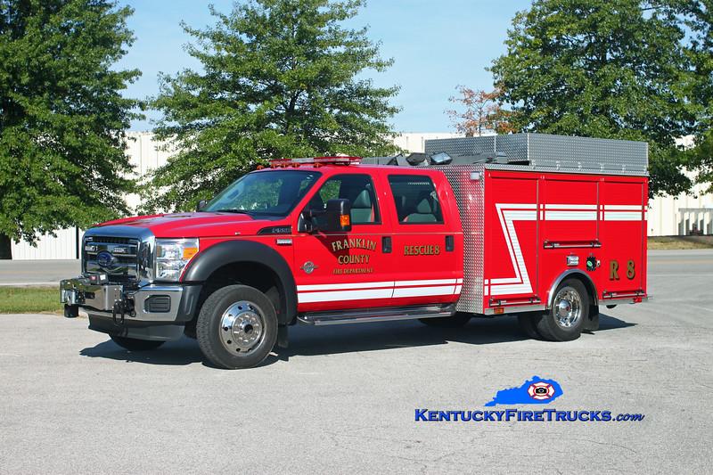 <center> Franklin County  Rescue 8 <br> 2012 Ford F-550 4x4/Sutphen <br> Kent Parrish photo </center>