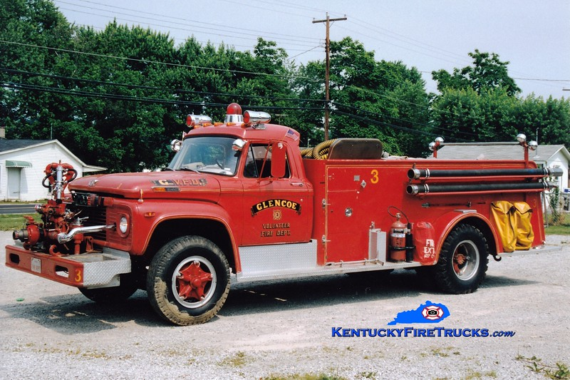 <center> RETIRED <br> Glencoe  Engine 3 <br> x-Southern Hills, KY <br> 1968 Ford F/Sutphen 750/750 <br> Greg Stapleton photo </center>