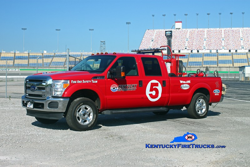 <center> Kentucky Speedway Unit 5 <br> 2013 Ford F-250 4x4 125# PK system/Amkus extrication tools <br> Kent Parrish photo </center>