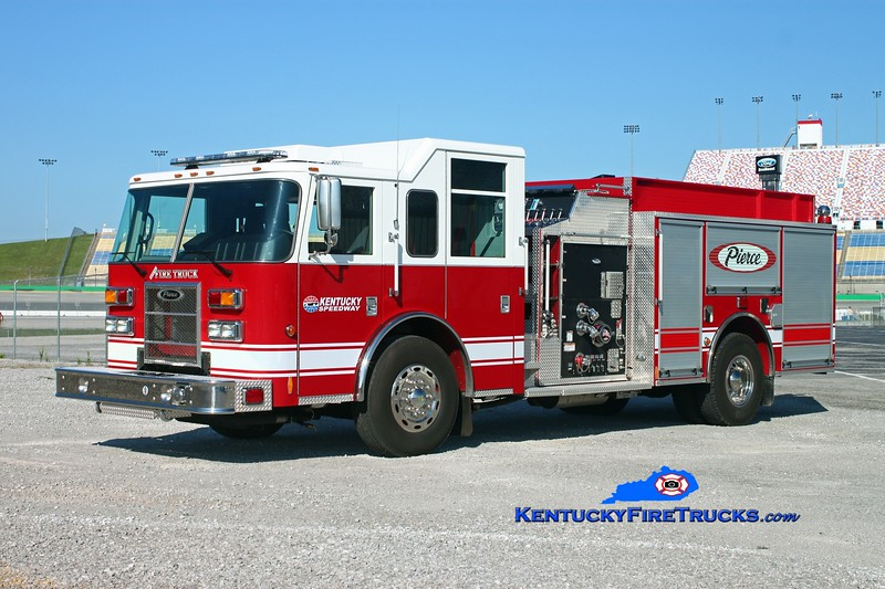 "<center> Kentucky Speedway  ""Official Fire Truck"" <br> 2012 Pierce Saber 1250/1000/30  <br> Kent Parrish photo </center>"