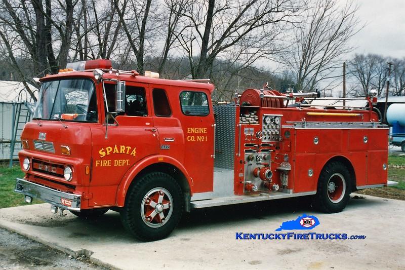 RETIRED<br /> Spartan  Engine 1<br /> x-Winchester, KY<br /> 1975 GMC/Sutphen 1000/500<br /> Kent Parrish photo