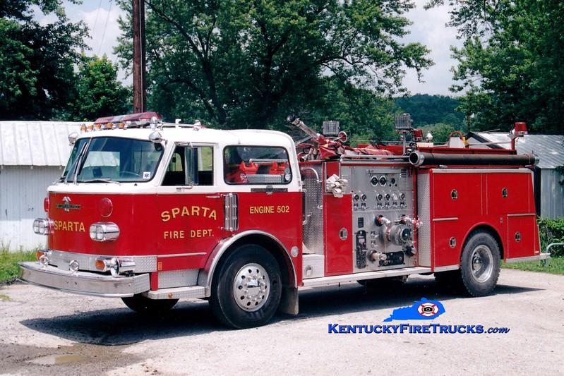 <center> RETIRED <br> Sparta  Engine 502 <br> x-Cedar Grove, NJ <br> 1977 American LaFrance Century 1000/500 <br> Greg Stapleton photo </center>