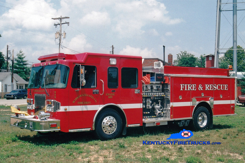 <center> Warsaw-Gallatin County  Engine 809 <br> 2000 Spartan/Toyne 1500/1000/90  <br> Greg Stapleton photo </center>