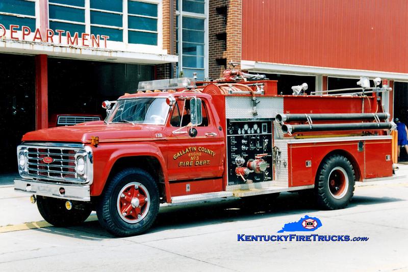 RETIRED <br /> Gallatin County  Engine 3<br /> 1973 Ford F-750/Pierce 750/750<br /> Greg Stapleton photo