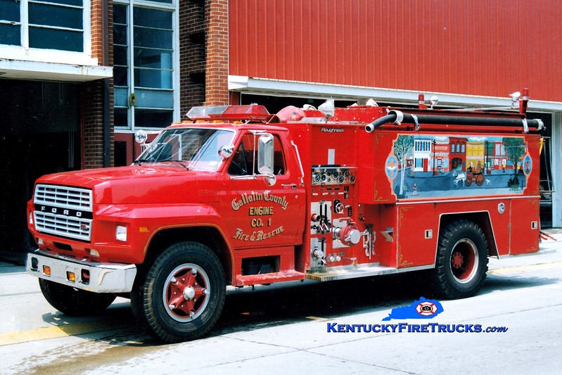<center> RETIRED <br> Gallatin County  Engine 801 <br> 1983 Ford F-800/FMC 500/1500   <br> Greg Stapleton photo </center>