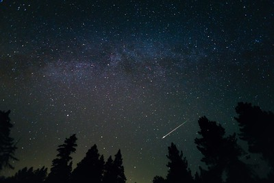 Meteor from Perseid Meteor Shower 2015, Palomar Mountain, CA