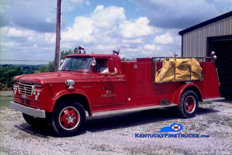<center> RETIRED <br> Buckeye  Tanker 601 <br> x-Kirksville, KY <br> 1963 Dodge/Howe 250/1000 <br> Greg Stapleton photo </center>