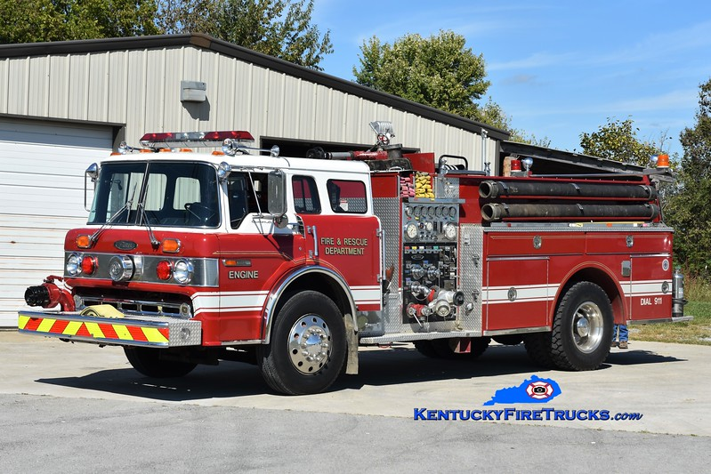 Buckeye  Engine 603<br /> x-LaGrange, KY<br /> 1985 Ford C-8000/Pierce 1250/750<br /> Greg Stapleton photo