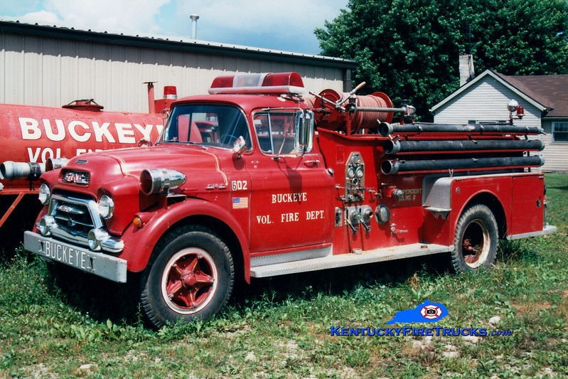 <center> RETIRED <br> Buckeye  Engine 602 <br> x-Bradley Beach, NJ <br> 1956 GMC/Seagrave 500/500 <br> Greg Stapleton photo </center>