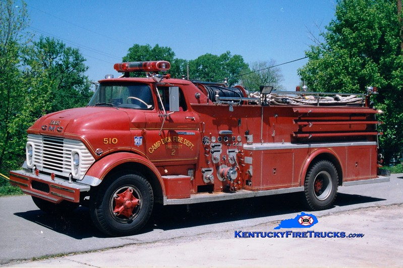 <center> RETIRED <br> Camp Dick  Engine 510 <br> x-Mt Olive Twp, NJ <br> 1961 GMC/Tasc 750/1000 <br> Greg Stapleton photo </center>