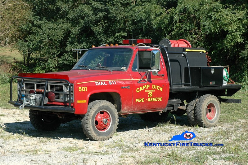 <center> Camp Dick  Brush 501 <br> 1983 GMC 4x4/2012 Fast Attack 250/250 <br> Greg Stapleton photo </center>