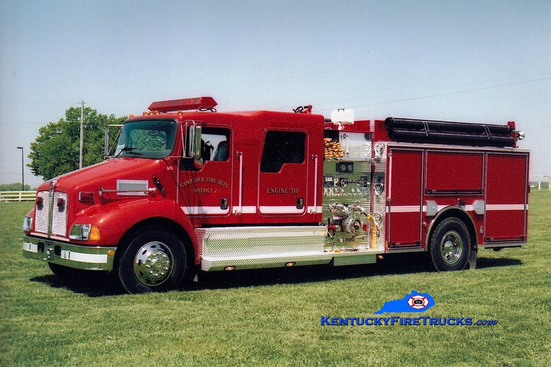 <center> Camp Dick  Engine 510 <br> 2006 Kenworth T-300/Pierce 1250/1000 <br> Greg Stapleton photo </center>