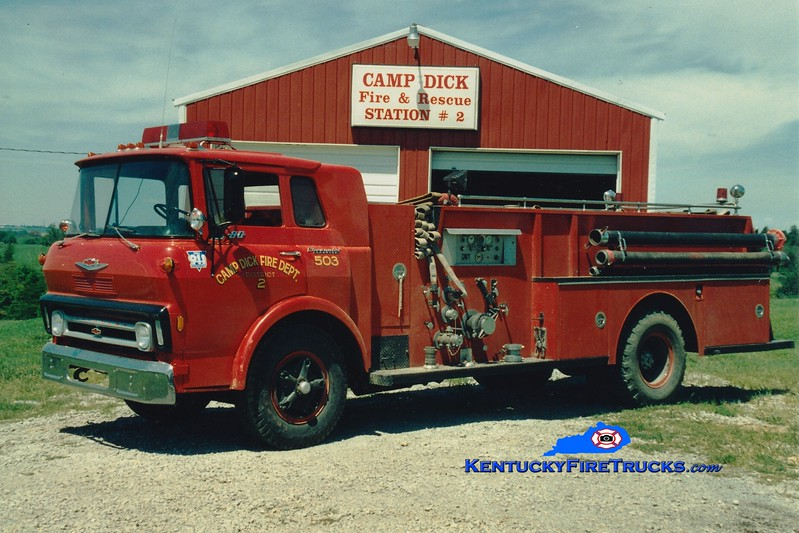 <center> RETIRED <br> Camp Dick  Engine 503 <br> x-Deerfield, OH <br> 1969 Chevy/FTI  750/1000 <br> Greg Stapleton photo </center>