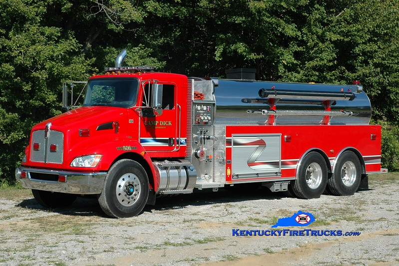 <center> Camp Dick  Tanker 506 <br> 2013 Kenworth T-370/Southeast 750/3000 <br> Greg Stapleton photo </center>