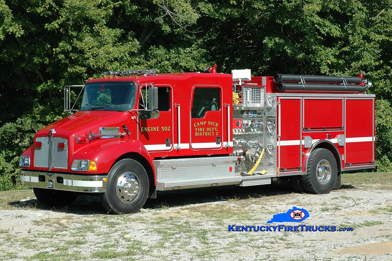 <center> Camp Dick  Engine 502 <br> 2007 Kenworth T-300/Pierce 1250/1000 <br> Greg Stapleton photo </center>