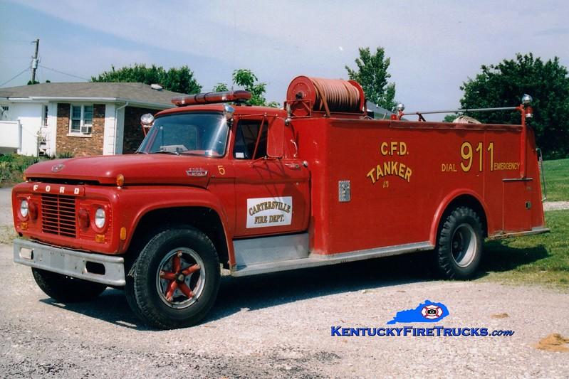 <center> Cartersville  Tanker 805 <br> x-Boyle County, KY <br> 1965 Ford F/American 250/2000 <br> Greg Stapleton photo </center>