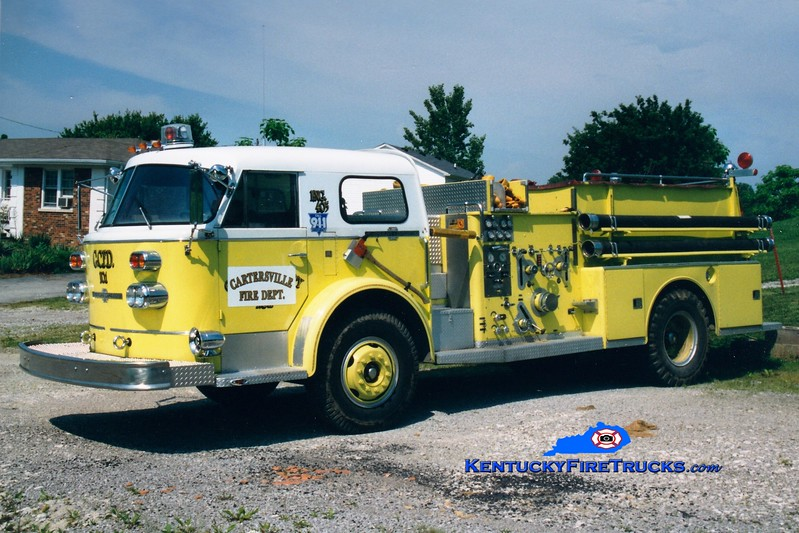 <center> RETIRED <br> Cartersville  Engine 801 <br> x-Ottoville, OH; Garrard County Fire District 1, KY <br> 1968 American LaFrance 900/1988 Allegheny 1000/750 <br> Greg Stapleton photo </center>