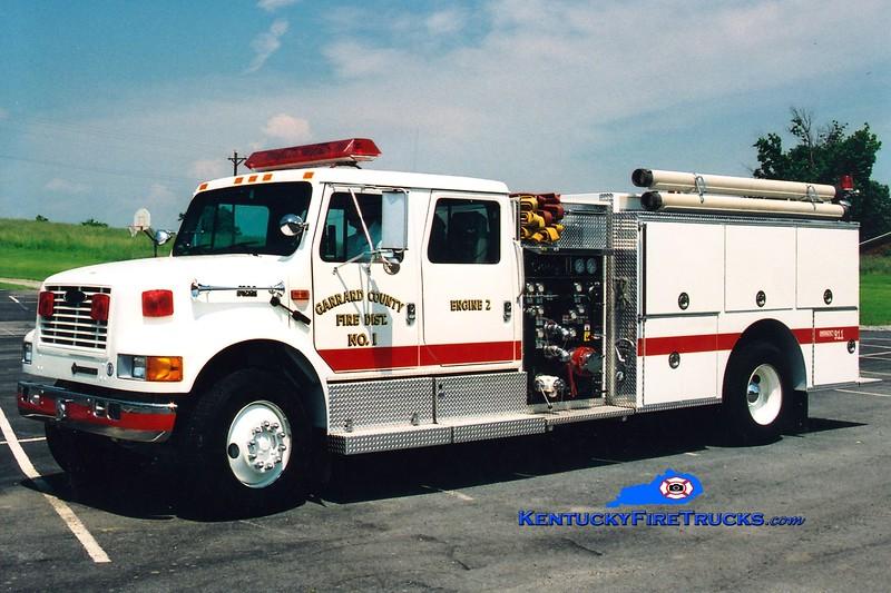 <center> Garrard County Fire Dist. 1  Engine 2 <br> 1994 International 4900/Pierce 1000/1000 <br> Greg Stapleton photo <br> </center>