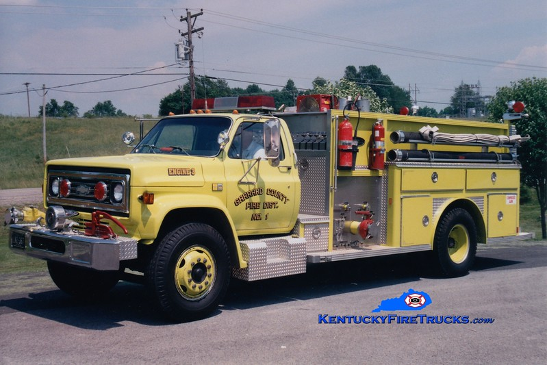 <center> RETIRED <br> Garrard County Fire Dist. 1  Engine 3 <br> 1982 Chevy C/E-One 1000/1000 <br> Greg Stapleton photo <br> </center>