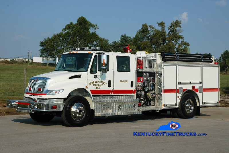 <center> Garrard County Fire Dist. 1  Engine 1 <br> 2010 International 4400/Pierce 1500/1200 <br> Greg Stapleton photo <br> </center>
