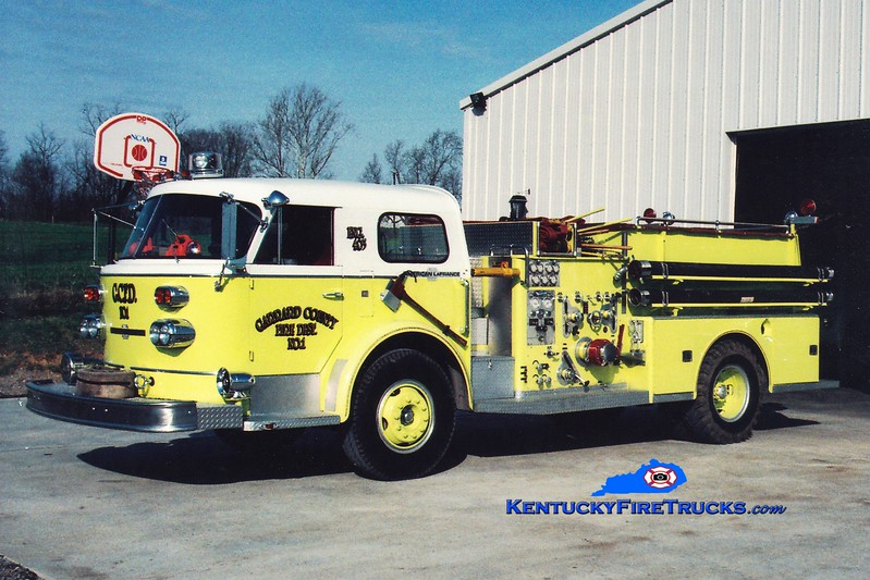 <center> RETIRED <br> Garrard County Fire Dist. 1  Engine 1 <br> x-Ottoville, OH <br> 1968 American LaFrance 900 Series 1000/750 <br> Greg Stapleton photo <br> </center>