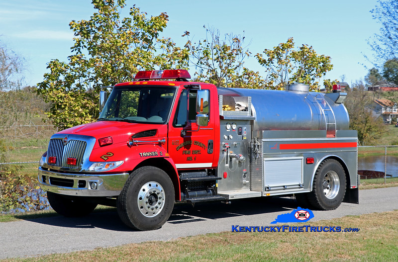 Garrard County Fire Dist. 1 Tanker 2<br /> 2005 International 4400/Bluegrass 350/1800<br /> Kent Parrish photo