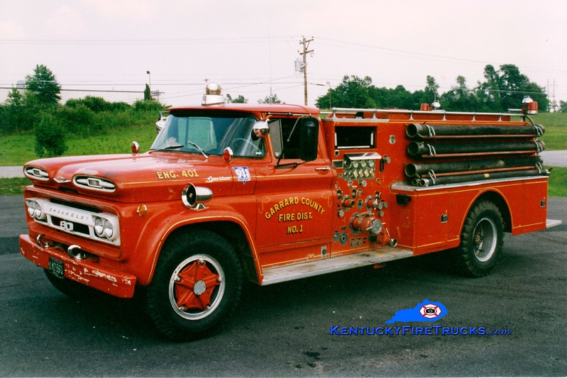 <center> RETIRED <br> Garrard County Fire Dist. 1  Engine 1 <br> 1962 Chevy C80/Howe 750/750 <br> Greg Stapleton photo <br> </center>