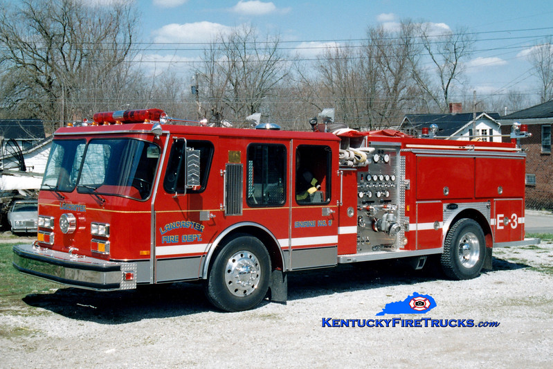 <center> RETIRED <br> Lancaster  Engine 3 <br> 1988 E-One Hurricane 1500/750 <br> Greg Stapleton photo </center>