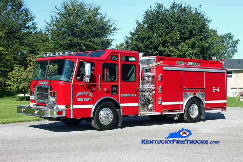 <center> Lancaster  Engine 4 <br> 2012 E-One Typhoon 1500/1000/50  <br> Kent Parrish photo </center>