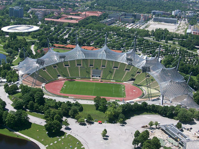 The Olympic Stadium in Olympiapark, site of the 1972 Summer Olympics.