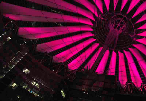 Sony Center by night<br /> Berlin<br /> <br /> P027