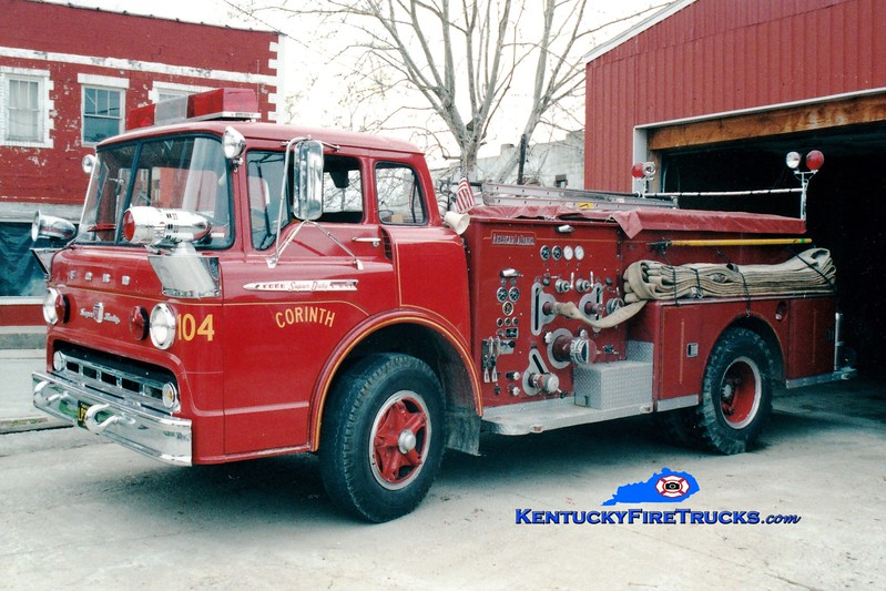 <center> RETIRED  <br> Corinth Engine 104 <br> x-Taylor Mill, KY <br> 1968 Ford C/American LaFrance 1000/500 <br> Greg Stapleton photo </center>