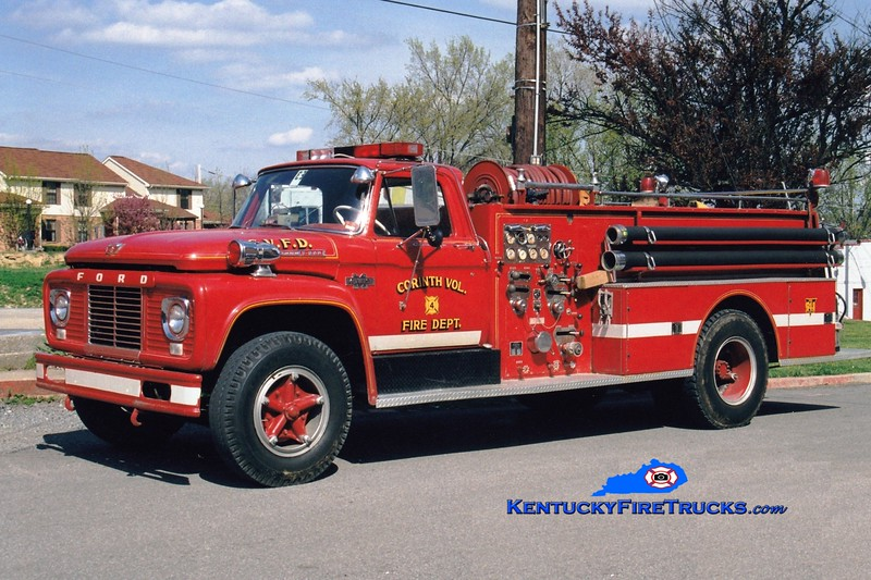 <center> RETIRED <br> Corinth Engine 104 <br> x-Dry Ridge, KY <br> 1963 Ford F/Boyer 750/300 <br> Greg Stapleton photo </center>