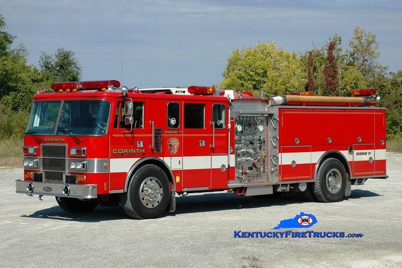 <center> Corinth  Engine 11 <br> x-Bridgewater #1, NJ <br> 1992 Pierce Lance 1250/1000 <br> Greg Stapleton photo </center>